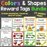 Colors & Shapes Brag Tags Bundle - Individual Tags for Col