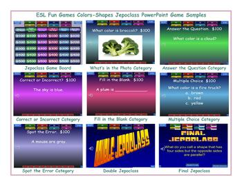 Colors-Shapes Jeopardy PowerPoint Game