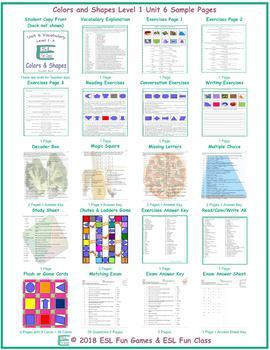Colors & Shapes Level 1-A Unit 6