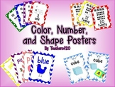 Colors, Shapes, Number Posters