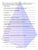 Colors-Shapes Scrambled Sentences Worksheet
