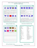Colors & Shapes Vocabulary Reading-Conversation-Writing Worksheets