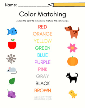 Colors & Shapes Worksheets for Preschool--6 pages FREE by ...