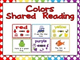 Colors Shared Reading- Preschool or Kindergarten PowerPoint or Print