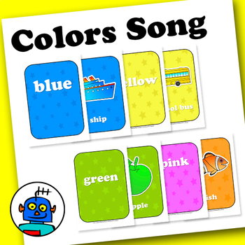 Colors Song, 28 Flash Cards and Poster pack from The Magic Crayons.