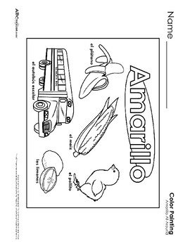 Colors (Spanish) Printables Collection