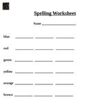 Colors Spelling Worksheet