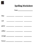 Colors Spelling Worksheet