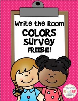 Colors Survey - Write the Room Activity!