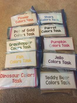 Colors Task Bags