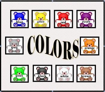 Colors - Teddy Bear Colors