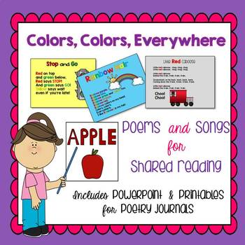Color Words Songs and Poems for Shared Reading or Poetry Journal