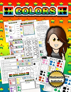 Colors Themed Activity Set / Worksheets + Flashcards