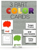 Colors : Three Part Cards
