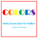 Colors Toddler Lesson Plan