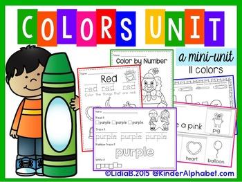 Colors Unit- ENGLISH
