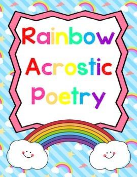 Colors Unit: Rainbow Acrostic Poetry