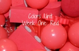 Colors Unit, Weekly Lesson Plan: Red