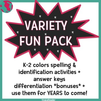 Colors Variety Pack in English for K-2nd