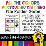 Colors Vocabulary Folder Game for Students with Autism & Special Needs