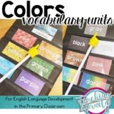 Colors Vocabulary Units Bundle
