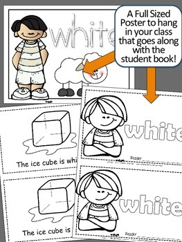 Colors {WHITE} Emergent Reader & Class Poster
