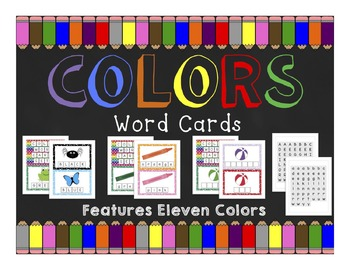 Colors: Word Cards