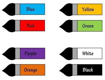 Colors Word Chart Printable