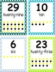 Polka Dot Numbers Word Chart Printable