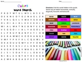 Colors Word Search-great for art and ESL teachers
