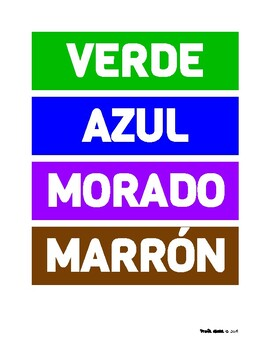 Colors Word Wall