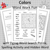 Colors Word Work Fun