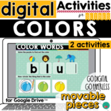 Colors Words Activity for Google Slides and Google Classro