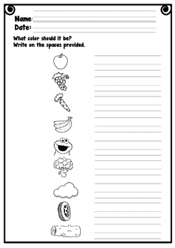 FREE Colors Worksheet
