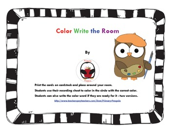 Colors Write the Room