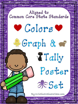 Graph and Tally Poster Set: Color Pictures