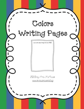 Colors Writing Pages