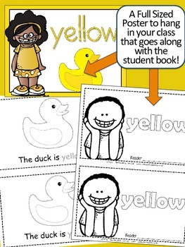 Colors {YELLOW} Emergent Reader & Class Poster