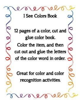 Colors- a color, cut and paste book