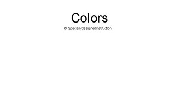 Colors adapted book
