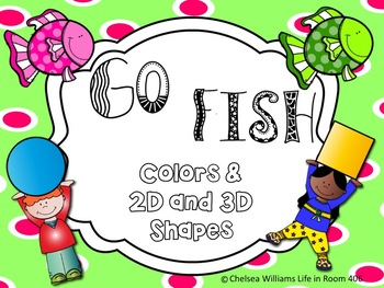 Colors and 2D and 3D Go Fish....Matching Game