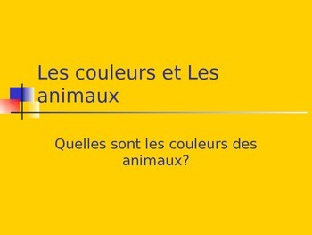 Colors and Animals in French