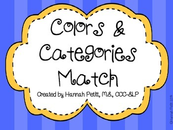 Colors and Categories Match