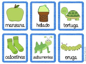 Colors and Categories Match: English/Spanish Bilingual