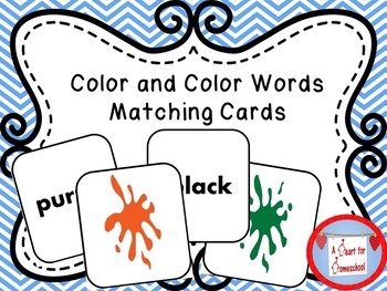 Colors and Color Word Matching Cards