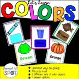 Colors and Color Words: An Adapted Book and Task Cards *SP