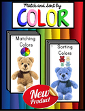 Colors and Color Words MATCHING and SORTING Activity Books