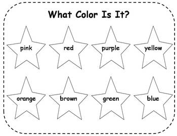 Colors and Color Words Sorting Center Activities