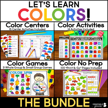Colors and Colors Words: Activities for Learning Colors