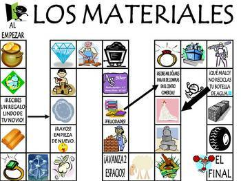 Colors and Materials Vocabulary Activities & Games Unit in Spanish
